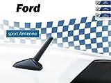NIQ AM/FM Auto-Tuning-Kurzstab-Sport-Dach-Ersatz-Antenne für Ford mit M5+M6 Gewinde