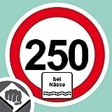 Tempolimit bei Nässe 250 kmh Aufkleber Decal Sticker Dub OEM NEU
