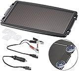 reVolt Kfz Solar Ladegerät 12V: Solar-Ladegerät für Auto-Batterien, 12 Volt, 2,4 Watt (Solar Ladegeräte für Autobatterien)
