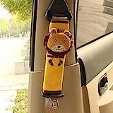 RAILONCH Cartoon-Design Auto Sicherheits Sicherheitsgurt Schulterpolster Gurtpolster Schulterkissen Autositze Gurtpolster (2 Stück, Löwe)