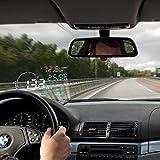 BLESYS - 5,5 Zoll Multi-Color HUD Head-Up Display im Auto beschäftigen Nano-Technologie für die Abnahme und die Glare Clear Display ohne Reflection Film, nur Arbeiten mit OBD2 & EOBD Auto