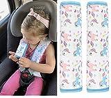 2x HECKBO Auto Einhorn Mädchen Gurtschutz Schulterpolster Gurtschoner Schulterkissen Autositze Gurtpolster für Kinder & Erwachsene