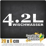 4,2l Wischwasser 20 x 6 cm In 15 Farben - Neon + Chrom! JDM Sticker Aufkleber