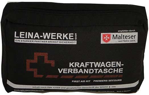 schwarze Verbandtasche