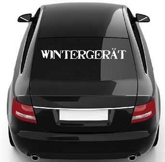 """Aufkleber """"Wintergerät"""" fürs Winterauto"""